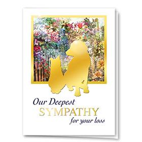 Premium Foil Pet Sympathy Cards - Gold Silhouette