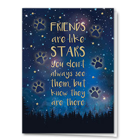 Premium Foil Pet Sympathy Cards - Always There