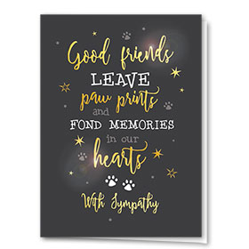 Premium Foil Pet Sympathy Cards - Sincere Words