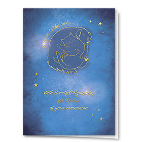 Premium Foil Pet Sympathy Cards - Hold On