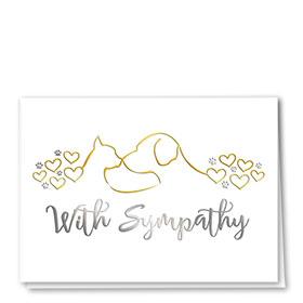 Premium Foil Pet Sympathy Cards - Loving Lines