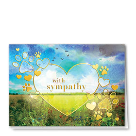 Premium Foil Pet Sympathy Cards - Floral Meadow