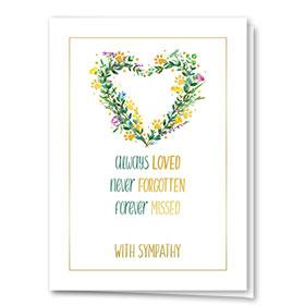 Premium Foil Pet Sympathy Cards - Delicate Floral