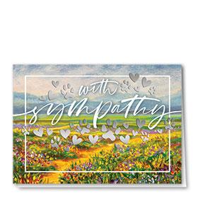 Premium Foil Pet Sympathy Cards - Wildflower Sympathy