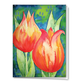 Multi-Purpose Veterinary Cards - Tulips & Paws
