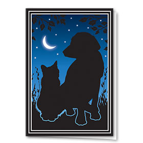 Multi-Purpose Veterinary Cards - Pets Silhouette