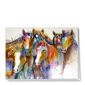 Multi-Purpose Veterinary Cards - Painterly Horses