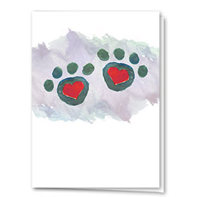 Multi-Purpose Veterinary Cards - Pair of Paws