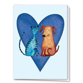 Multi-Purpose Veterinary Greeting Cards - Pair of Pets
