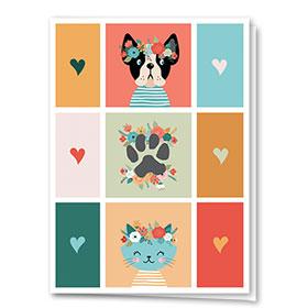 Multi-Purpose Veterinary Greeting Cards - Flower Crowns