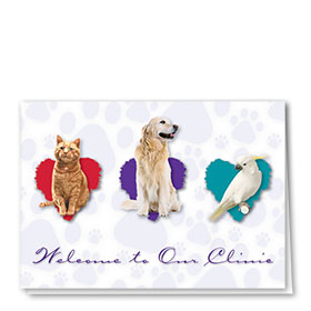 Veterinary Welcome Cards - Welcome Trio
