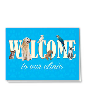 Veterinary Welcome Cards - Welcome To Clinic