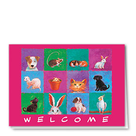 Veterinary Welcome Cards - All Critters Welcome