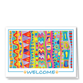 Veterinary Welcome Cards - Welcome Pattern