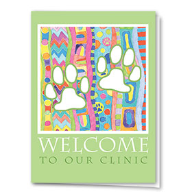 Veterinary Welcome Cards - Painterly Paws