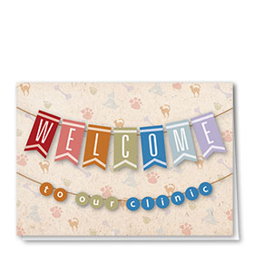 Veterinary Welcome Cards - Handmade Welcome