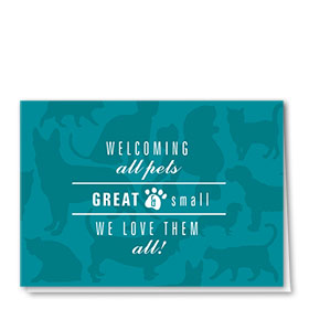 Veterinary Welcome Cards - All Pets