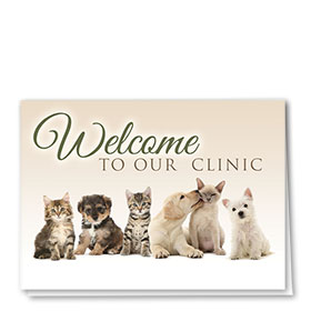 Veterinary Welcome Cards - Puppy Kisses