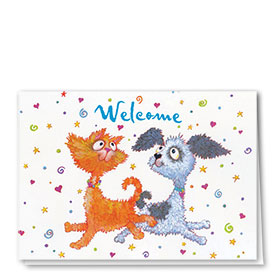 Veterinary Welcome Cards - Leap for Joy