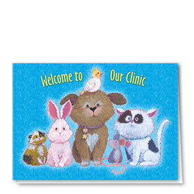 Veterinary Welcome Cards - Critter Hello