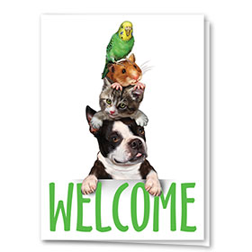 Veterinary Welcome Cards - Pet Stack Welcome