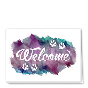 Veterinary Welcome Cards - Painted Welcome