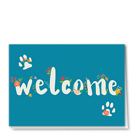 Welcome Card-Flowering Welcome
