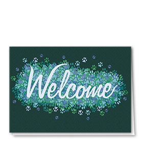 Welcome Card-Green Welcome