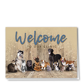 Veterianry Welcome Cards - Welcome Crew