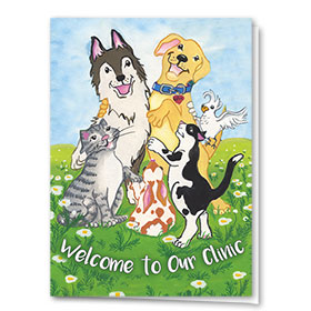 Veterinary Welcome Cards - Playful Welcome