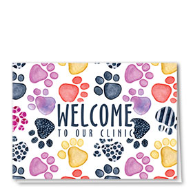 Veterinary Welcome Cards - Pattern Paws Welcome