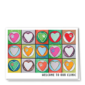 Veterinary Welcome Cards - Welcome Heart Palette