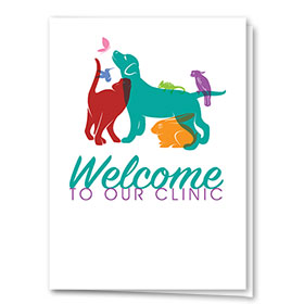 Veterinary Welcome Cards - Rainbow Silhouette