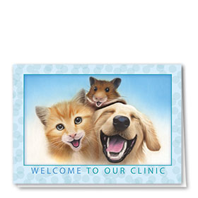 Veterinary Welcome Cards - Laughing Pets