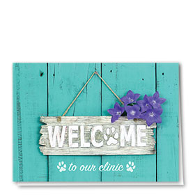 Veterinary Welcome Cards - Welcome Sign