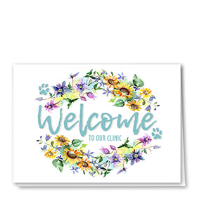 Veterinary Welcome Cards - Sunflower Welcome