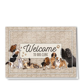 Veterinary Welcome Cards - Clinic Welcome