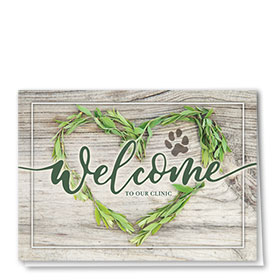 Veterinary Welcome Cards - Delicate Heart Welcome