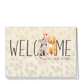 Veterinary Welcome Cards - Welcome Pair