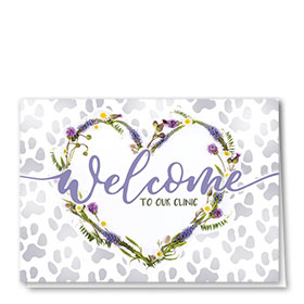 Veterinary Welcome Cards - Daisy Welcome