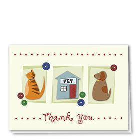 Veterinary Thank You Cards