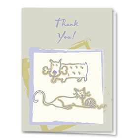 Veterinary Thank You Cards - Bones & Yarn