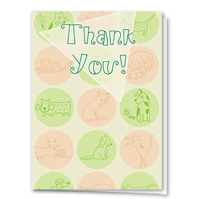 Veterinary Thank You Cards - Dogs & Cats
