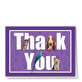 Veterinary Thank You Cards - Purple