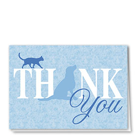 Veterinary Thank You Cards - Blues