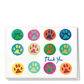 Veterinary Thank You Cards - Bright Thank You