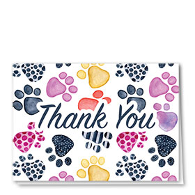 Veterinary Thank You Cards - Pattern Pets Thank You