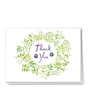 Veterinary Thank You Cards - Thank Garland