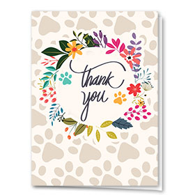 Veterinary Thank You Cards - Thank You Circle