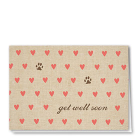 Pet Get Well Cards - Hearts